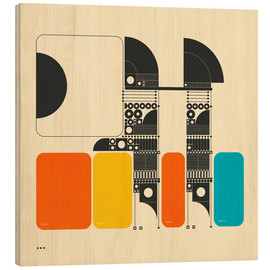 Wood print  SYSTEMS 14 - Jazzberry Blue