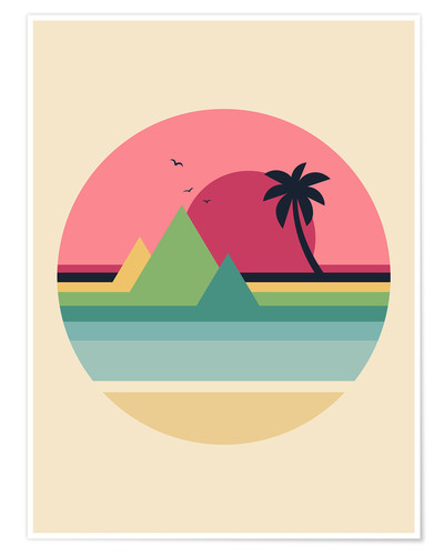 Premium poster Tropical Sunset