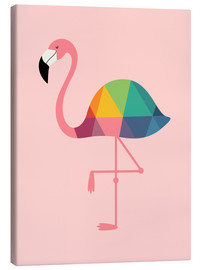 Canvas print  Rainbow flamingo - Andy Westface