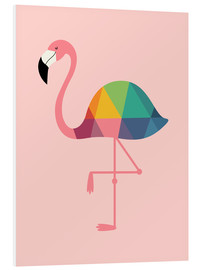 Foam board print  Rainbow flamingo - Andy Westface