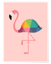 Poster Rainbow flamingo