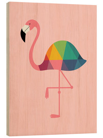Wood  Rainbow Flamingo - Andy Westface