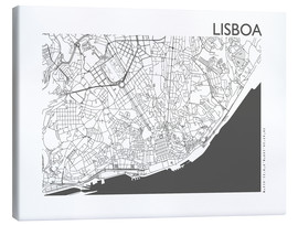 Canvas  City map of Lisbon - 44spaces
