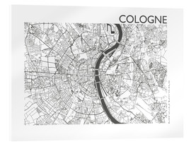 Acrylic print  City map of Cologne - 44spaces