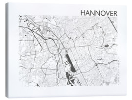 Canvas print  City map of Hannover - 44spaces