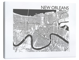 Canvas print  City map of New Orleans - 44spaces