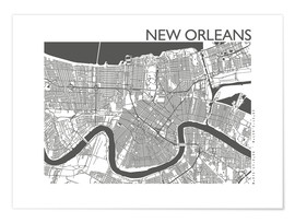 Premium poster City map of New Orleans