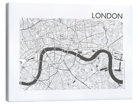 Canvas  City map of London - 44spaces