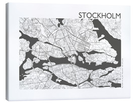 Canvas print  City map of Stockholm - 44spaces