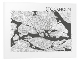 Foam board print  City map of Stockholm - 44spaces