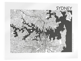 Acrylic print  City map of Sydney - 44spaces
