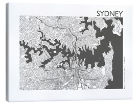 Canvas print  City map of Sydney - 44spaces