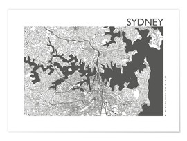 Poster City map of Sydney