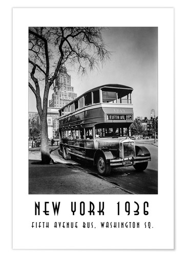 Premium poster Historic New York - 10 Fifth Avenue Bus, Washington Square