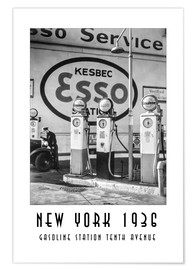 Premium poster Historic New York - Gasoline Station Tenth Avenue, Manhattan