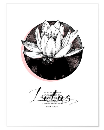 Premium poster Lotus motivation