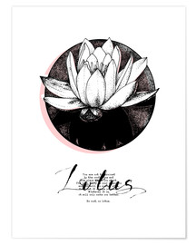 Premium poster  Lotus motivation - Sonia Nezvetaeva