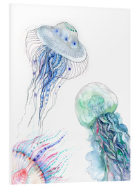 Foam board print  Sea life - jellyfish - Verbrugge Watercolor