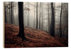 Wood print  Mystical fog in the resin forest - Oliver Henze