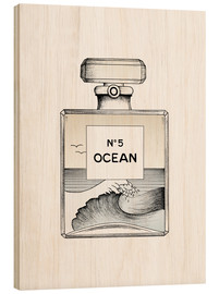 Wood print  Ocean No5 - Barlena