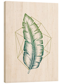 Wood print  Geometry and nature V - Barlena