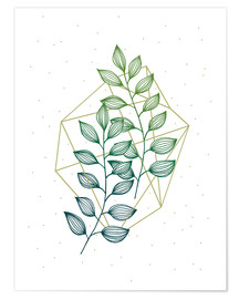 Premium poster  Geometry and nature III - Barlena