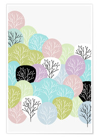 Premium poster  Spring in the forest - Mia Nissen