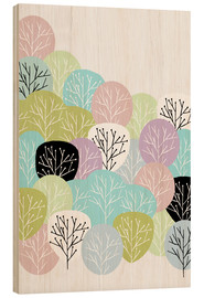 Wood print  Spring in the forest - Mia Nissen