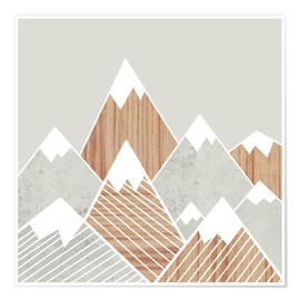 Poster  Concrete mountains I - Mia Nissen