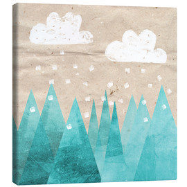 Canvas  Clouds with Mountain - Mia Nissen