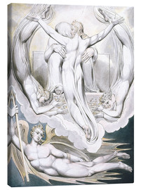 Canvas print  Christ offers to redeem Man - William Blake