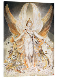 Acrylic print  Satan in His Original Glory - William Blake