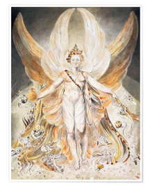 Premium poster  Satan in His Original Glory - William Blake
