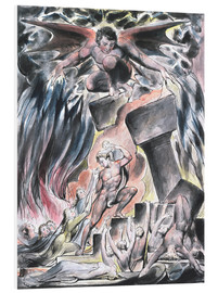 Foam board print  jobs sons and daughters overwhelmed by satan - William Blake