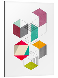 Aluminium print  Colorful cubes - Nouveau Prints