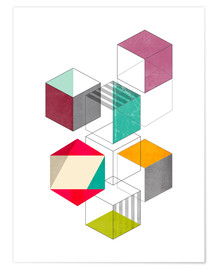 Premium poster  Colorful cubes - Nouveau Prints