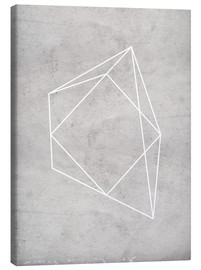 Canvas print  Gray polygon 7 - Nouveau Prints