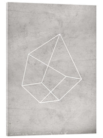 Acrylic print  Gray polygon 6 - Nouveau Prints