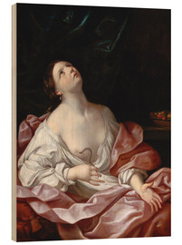 Wood print  Cleopatra with the Asp - Guido Reni
