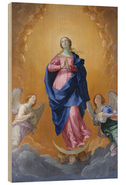 Wood print  the Immaculate Conception - Dominikos Theotokopoulos (El Greco)