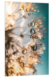Forex  Dandelion summer happiness in turquoise gold - Julia Delgado