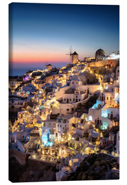 Canvas print  Santorini at the blue hour - Dennis Fischer