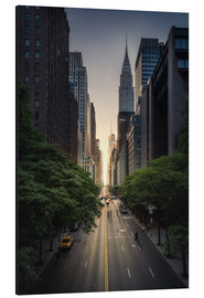 Aluminium print  New York City Sunset - Dennis Fischer