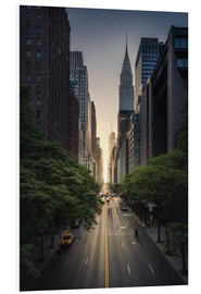 Foam board print  New York City Sunset - Dennis Fischer