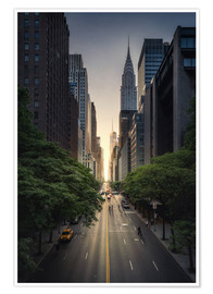 Premium poster  New York City Sunset - Dennis Fischer