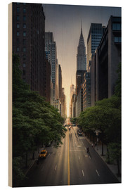 Wood  New York City Sunset - Dennis Fischer