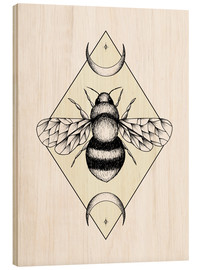 Wood print  Bee Confident - Barlena