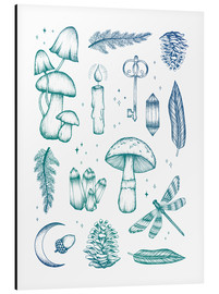 Aluminium print  Enchanted forest - Barlena