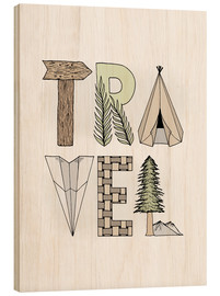 Wood print  Travel  - Barlena