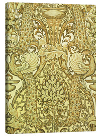 Canvas print  Golden peacocks - Walter Crane